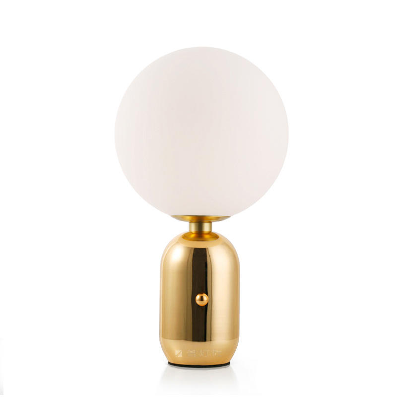 Modern Design Hotel Table Lamp White Glass Globe Shade Desk Light Factory M20256