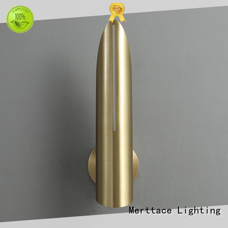 Merttace brushed brass sconce light wholesale for aisle