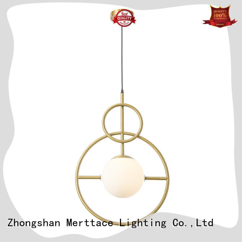 Merttace black iron modern pendant lamp supplier for hotel