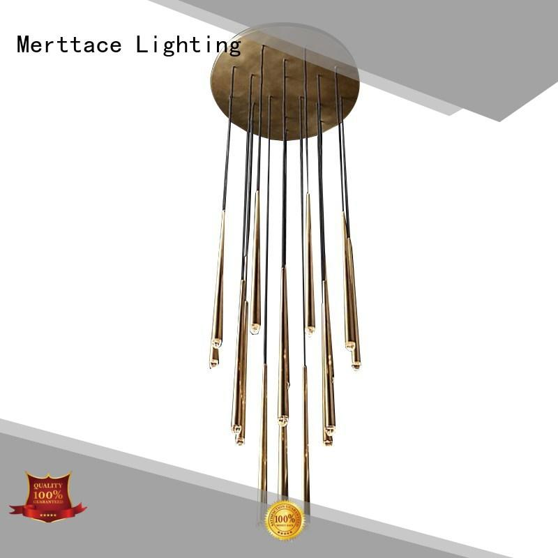 Merttace hanging pendant light fixtures factory for hotel