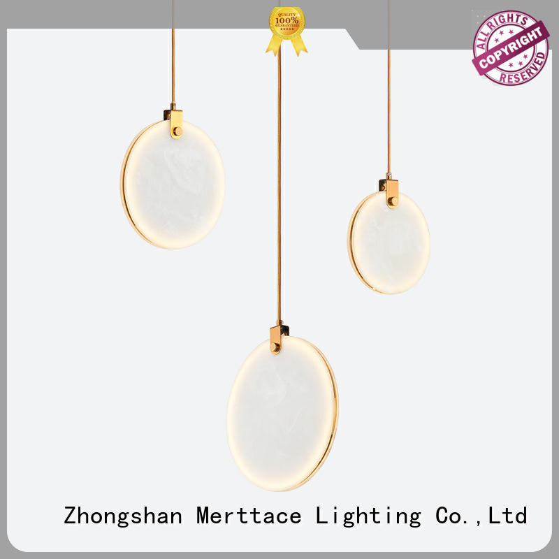 Merttace frosted glass square pendant light fixtures wholesale for hotel