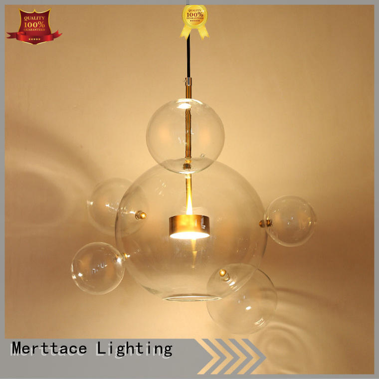 Merttace frosted glass square hanging pendant light fixtures customized for living room