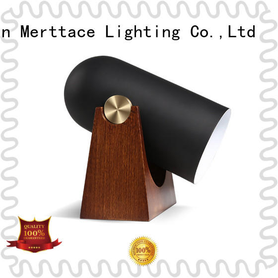 Merttace wood base home goods table lamps for bedroom