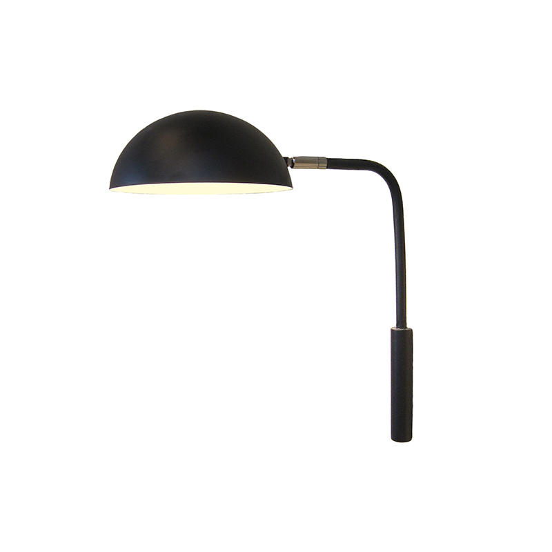 Simple Design Black Semi-Circular Lampshade Wall Lamp for Bedroom M10457